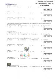 English Worksheets: 30-question Test