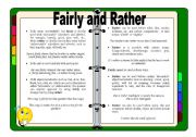 English Worksheets: Fairly and Rather - Guide