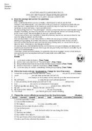 English intermediate test papers