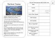 English Worksheets: Rivers PAIRWORK [Fully editable]
