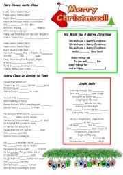 Christmas carols fill in the blanks