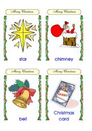 Christmas flashcards (17-32 of 32) and backs  reuploaded