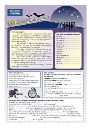 English Worksheet: Solve the mystery! (2 pages)