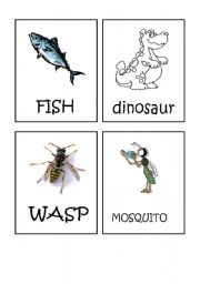 English Worksheets: Animals flash-cards part 5