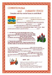 English Worksheets: Conditionals and Passive Voice  -  PET level