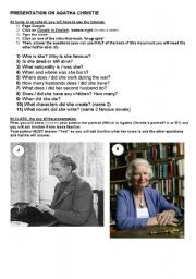 English Worksheet: agatha christie