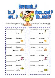 English Worksheet: How much... asking for prices