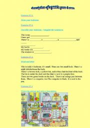 English Worksheet: description of the house