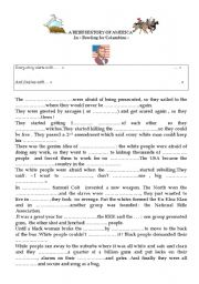 English Worksheet: Bowling for Columbine  : A brief history of America