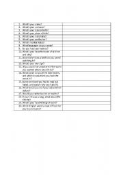 English Worksheets: questionnaire