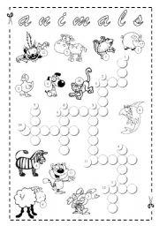 English Worksheets: Animals Crossword + Key