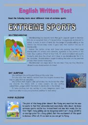 Extreme sports