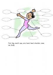 English Worksheets: Map a ballet dancer girl
