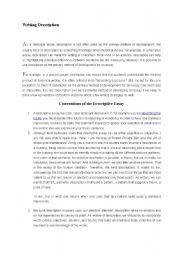 English Worksheets: Descriptions