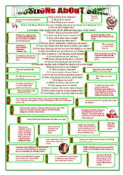 English Worksheets: Questions about Santa