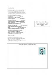 English Worksheet: Song describing people