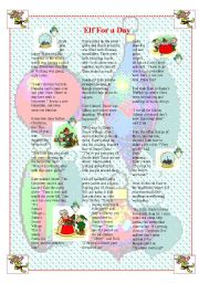 English Worksheets: Elf for a day