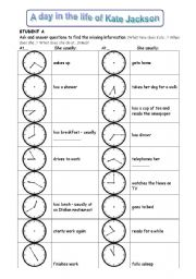 ... worksheets > Time > Telling the time > Pair work: telling the time