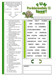 English Worksheets: FunSheet Pre-Intermediate 12