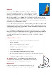 Sailing Worksheet