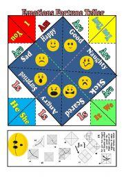 Fortune Teller (future tenses) worksheets - photo#40