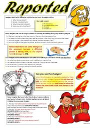 English Worksheet: REPORTED SPEECH (Part II)
