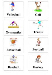 Sports Flashcard Esl Worksheet By Yesimmm