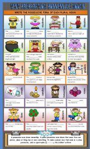 English Worksheets: Possessives - Plural Nouns