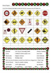 Worksheet Traffic Signs Worksheets english teaching worksheets road signs signs