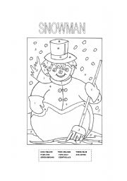 English Worksheet: snowman