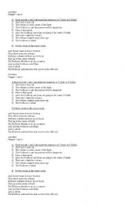 English Worksheet: Activities Journey to the Center of the Earth Chapters 1 & 2