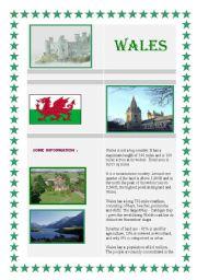 English Worksheet: Wales - reading comp.