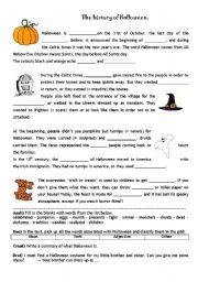 English teaching worksheets: Halloween