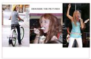 English Worksheets: Miley Cyrus pictures for description