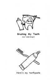 English Worksheets: brush my teeth minibook