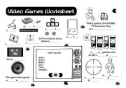 English Worksheet: Video Games Vocabulary Worksheet