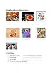 English Worksheets: Religious festivals