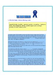 English Worksheets: THE BLUE RIBBON