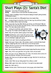 English Worksheets: Short Plays (2): Santa�s Diet