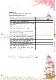 English Worksheets: class secrets