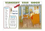 English Worksheet: Writing: Vincent Van Gogh´s Bedroom