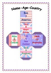 Name-Age-Country for BOYS