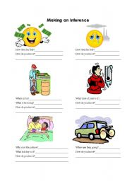 English Worksheets: Making an Inference - Introduction