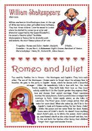 English Worksheet: Shakespeare - Romeo and Juliet