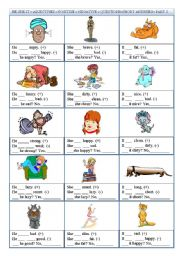 English Worksheets: Verb �to be� - Positive-Negative-Questions-Sort Answers-Part 2 (He-She-It)