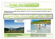 Time to talk (1): comparative and superlative adjectives