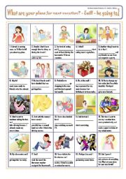 English Worksheet: WHAT ARE YOUR PLANS FOR NEXT VACATION? PiCtUrE sToRy!