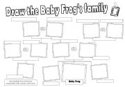 English Worksheet: Draw the Baby Frog�s family