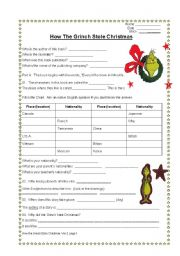 english worksheet how the grinch stole christmas an exploration of everything grinchy - How The Grinch Stole Christmas Activities