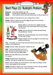 English Worksheet: Short Plays (3): Rudolph´s Problem